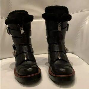 Coach shearling Moto boots